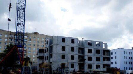 Начался монтаж четвертого этажа дома 1.1