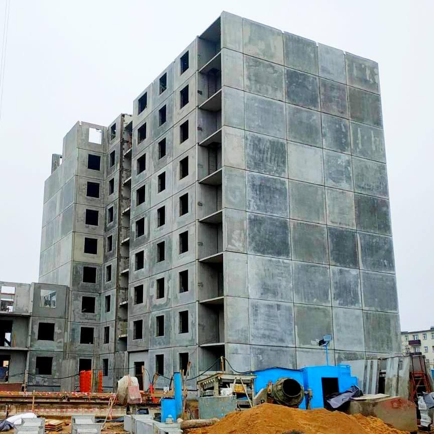 Дом 1.3. Строим 9 этаж.